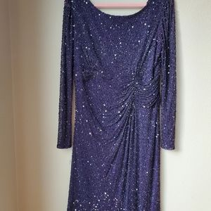 Patra Dark Plum Beaded Dress